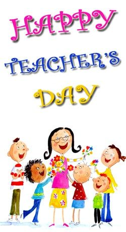 Teacher's are so important. Let's celebrate them today!