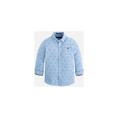 Mayoral Рубашка для мальчика Mayoral  — 2299р. ----------------- Рубашка для мальчика Mayoral (Майорал) – это стильная модная и практичная модель. Рубашка с длинными рукавами от известной испанской марки Mayoral (Майорал), выполненная из натурального хлопка, станет прекрасным дополнением гардероба вашего мальчика. Рубашка застегивается на пуговицы, декорирована небольшой монограммой на груди и контрастным кантом на манжетах. Уголки воротника пристегиваются на пуговицы к ткани рубашки…