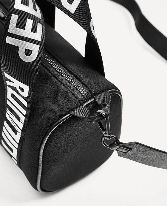 Image 5 of MINI SLOGAN BOWLING BAG from Zara