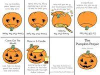 Pumpkin Prayer - printable minibook