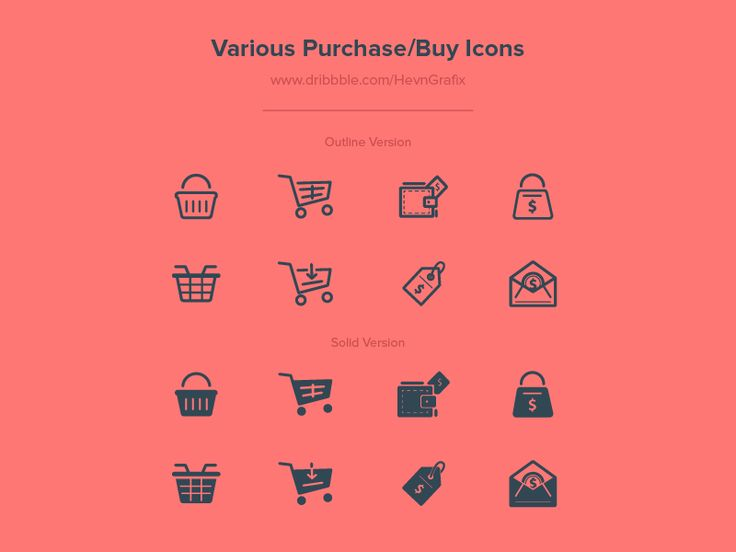 it's been a while i didn't practicing icon design. so i decided to do one. this is 8 design versions for purchase/buy icon. icons available on 2 style: outline and solid, that makes them 16 in tota...