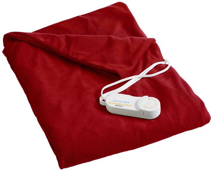Heated Throw Biddeford Blankets 50 by 62-Inch 4440-907484-300 Cozy Brick Red NEW #BiddefordBlankets #Modern