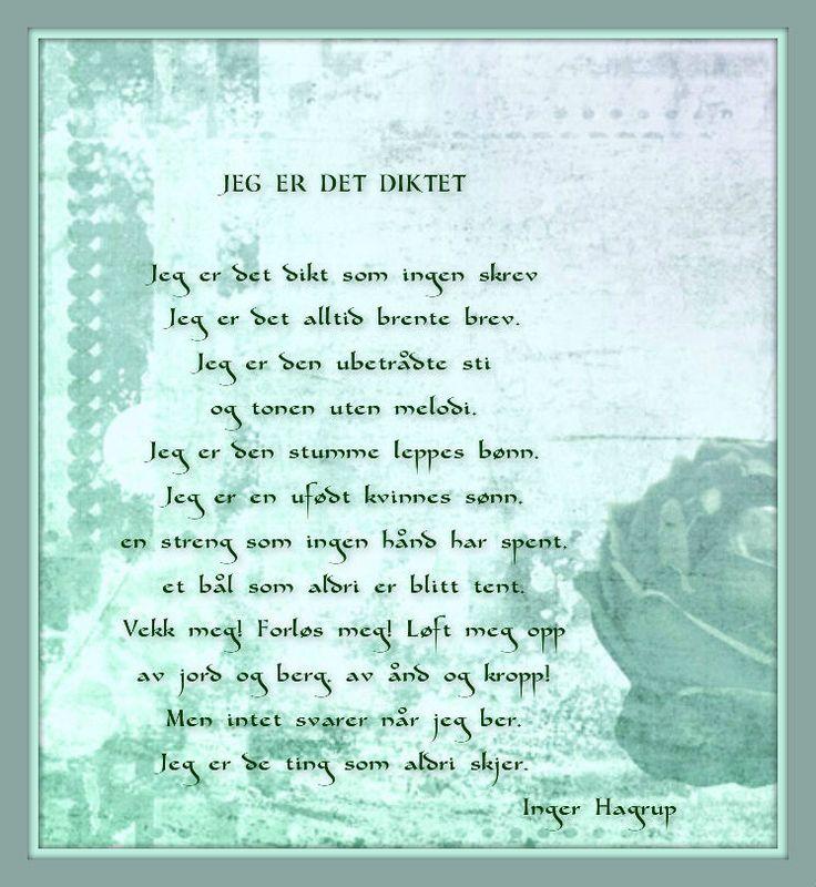 Inger Hagerup Jeg er det diktet