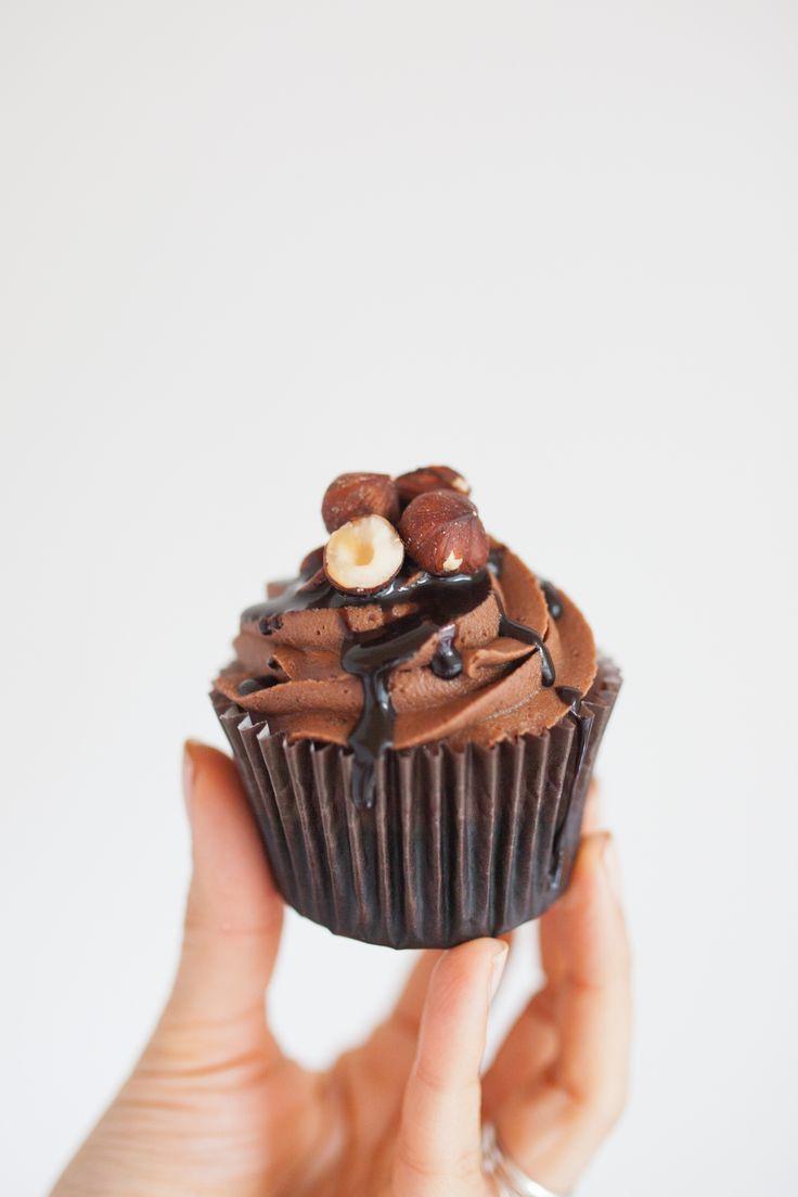 Chocolate Cupcake with Hazelnuts  Made by Cake Me! Oslo www.facebook.com/cakemeoslo
