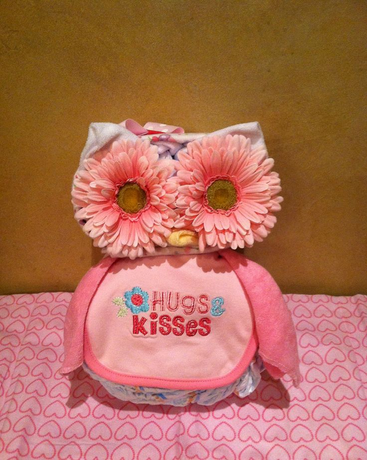 Owl Diaper Cake Owl Baby Shower Diaper Cake.