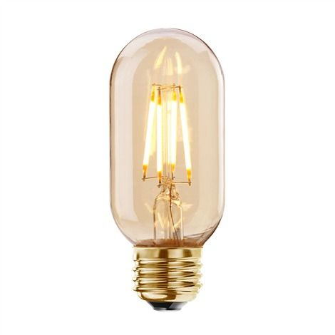 4w 40w replacement dimmable led antique light bulb t14 medium base - Antique Light Bulbs