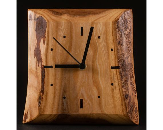 Wooden wall clock by HollossyWoodworks on Etsy