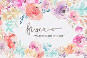 Fresca- Watercolor Flower Clip Art - Illustrations - 1