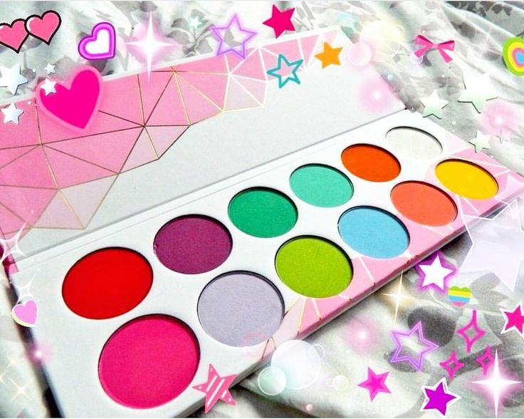 Super cute Sugarpill Pro Palette featuring the shades (L-R): Love+, 2AM, Midori, Mochi, Flamepoint, Tako, Dollipop, Frostine, Acidberry, Kim Chi, Suburbia, Buttercupcake.