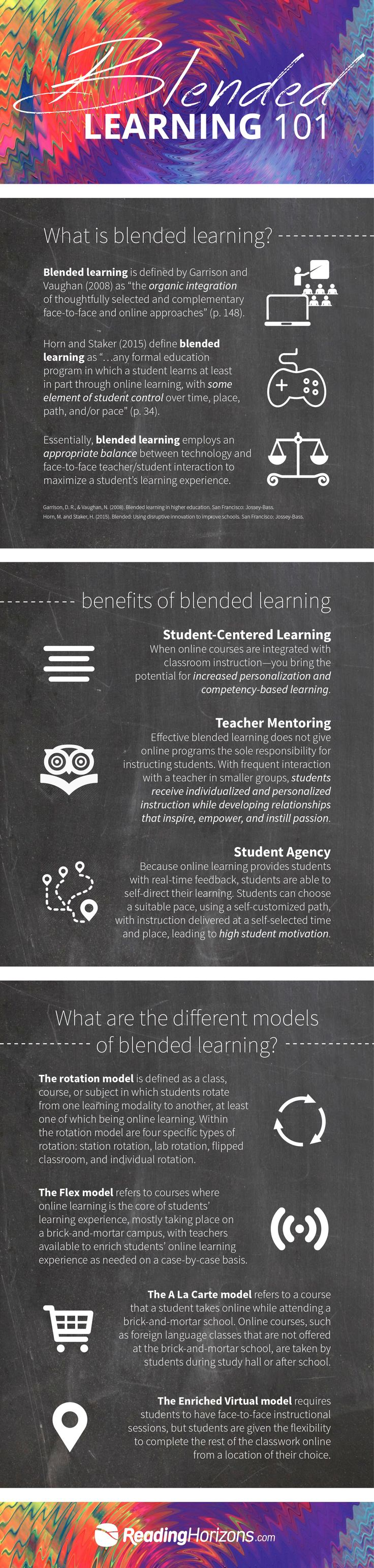 Blended Learning 101 Infographic - http://elearninginfographics.com/blended-learning-101-infographic/