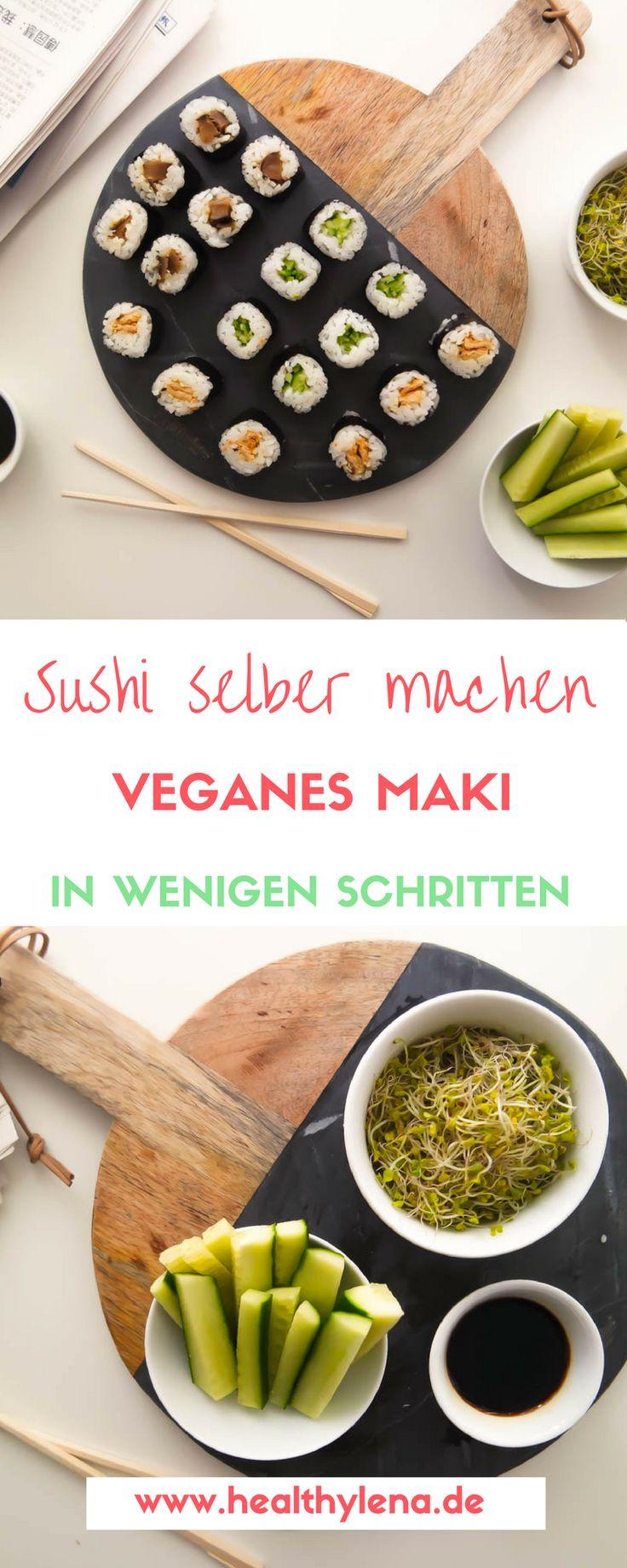 Für eine ziemlich lange Zeit habe ich es mir nicht zugetraut, Sushi selber zu machen. Ich weiß gar nicht genau warum, aber ich habe mir die Zubereitung einfach immer mega kompliziert vorgestellt. Für all diejenigen, denen es genauso geht, hab ich jetzt gute Neuigkeiten: veganes Maki zuzubereiten ist (beinahe) ein Kinderspiel! Hier geht's zum Rezept für veganes Sushi gefüllt mit Tofu, Shiitake und Gurke.