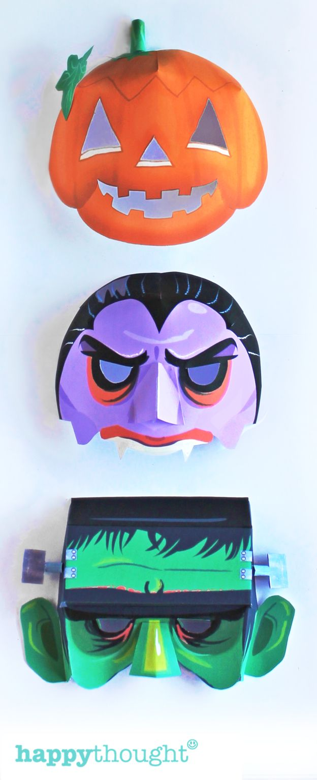 288 best paper mask fun images on pinterest mask for Make your own halloween mask online