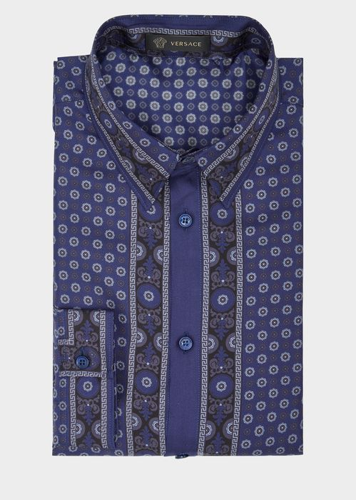 VERSACE Cravatteria Print Silk Shirt. #versace #cloth #cravatteria print silk shirt