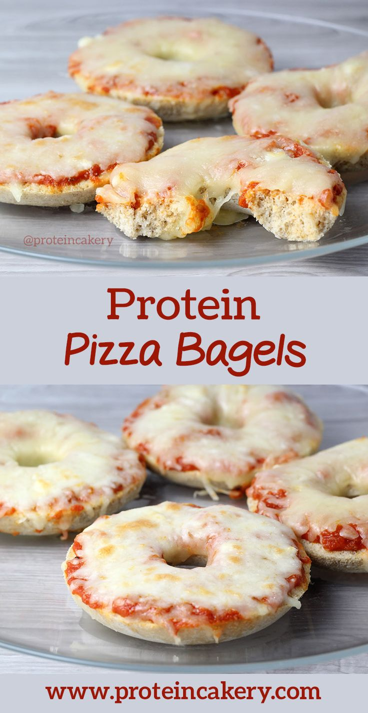 Protein Pizza Bagels recipe - high protein, low carb, gluten free!
