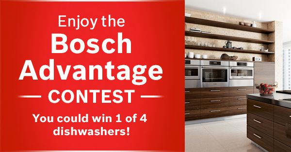 Discover the Bosch Advantage and enter to WIN 1 of 4 dishwashers! https://www.facebook.com/boschcdn/app_334020766771635