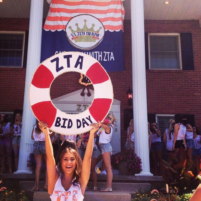 Zeta Tau Alpha at University of Missouri #ZetaTauAlpha #BidDay
