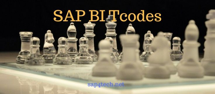 SAP BI Tcodes, SAP BW Tcodes, SAP BI transaction Codes
