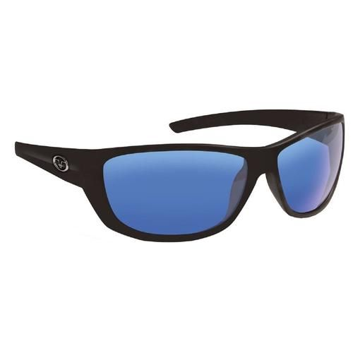 Flying Fisherman Bahia Matte Blk Smoke Blu Mirror Sunglasses