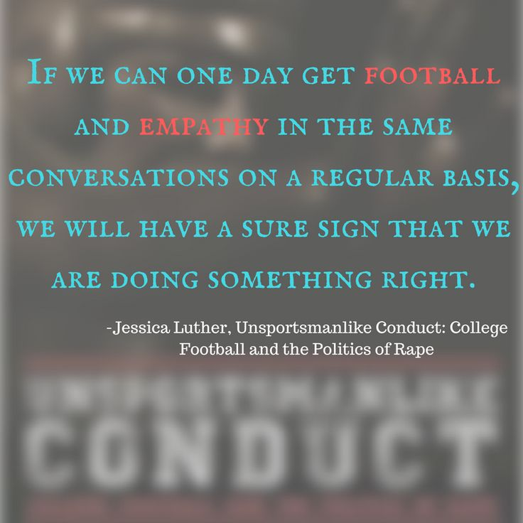 From UNSPORTSMANLIKE CONDUCT, a meticulously researched and powerful expose on the epidemic of cover-up that surrounds sexual assault and college football players.