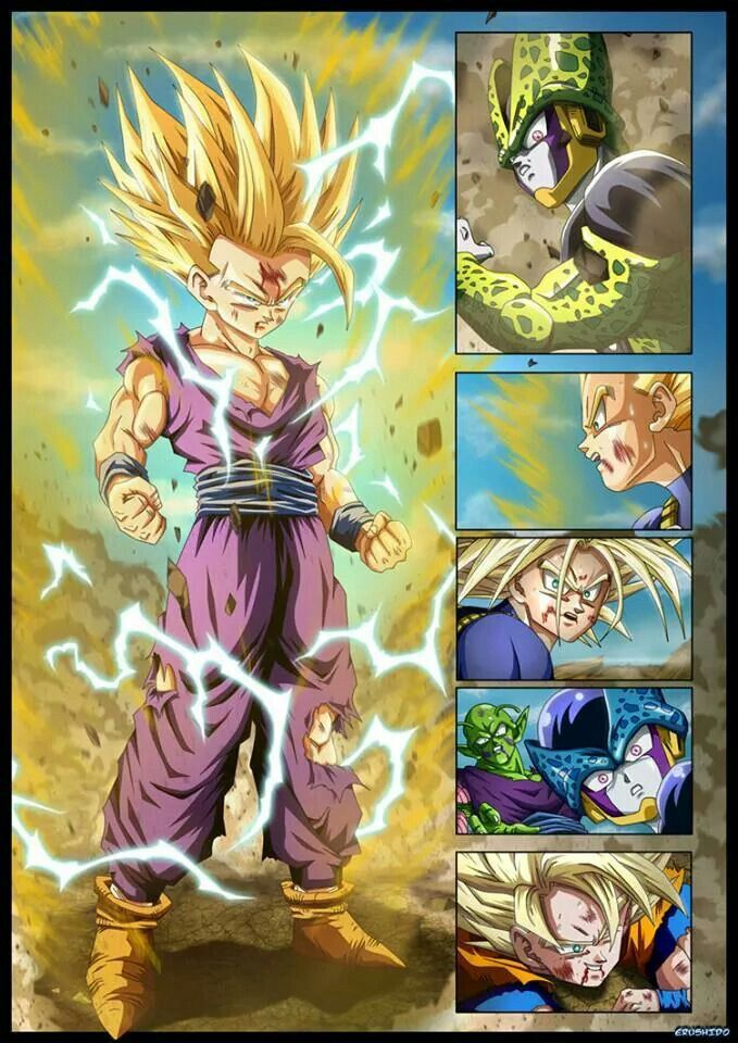 One of the best moments in DBZ - Super Saiyan 2 Gohan is born