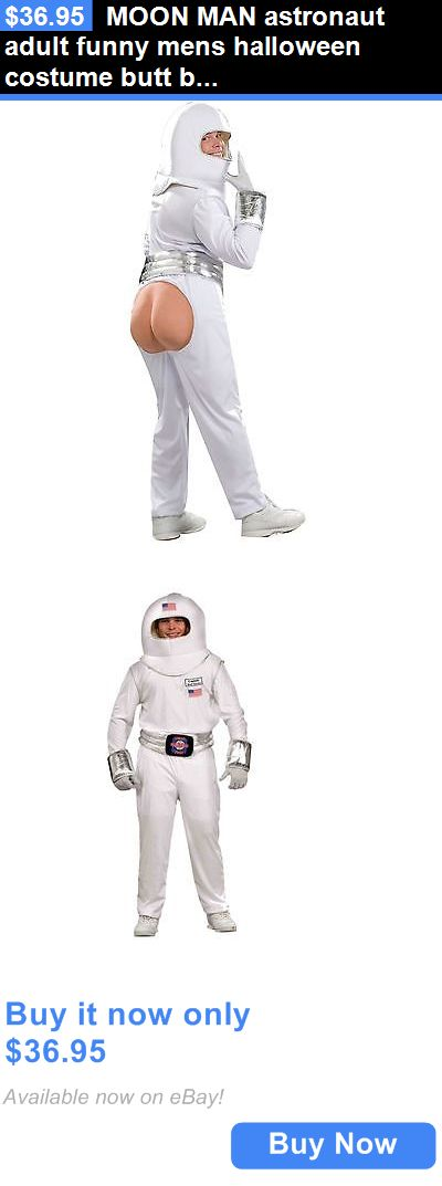 Halloween Costumes Men: Moon Man Astronaut Adult Funny Mens Halloween Costume Butt Booty One Size BUY IT NOW ONLY: $36.95