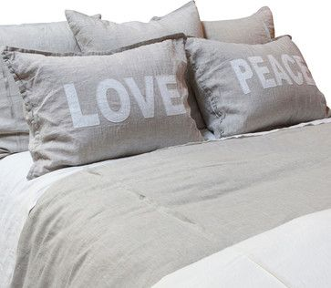 'Peace' and 'Love'  - farmhouse -  Bliss Home & Design