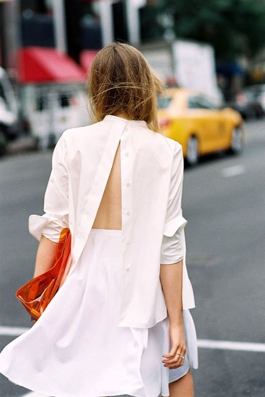 Street Style: A Fresh Way To Wear Your Button-Down Shirt (via Bloglovin.com ):