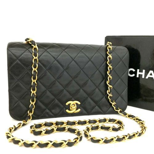 96a02b7ff079 CHANEL Quilted Matelasse 23 Full Flap CC Logo Lambskin Chain Shoulder Bag  /d903