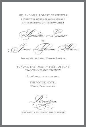 Best Formal Elegant Wedding Invitations Images On