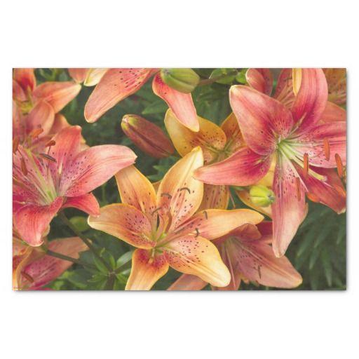 """Garden Lilies 10"""" X 15"""" Tissue Paper"""