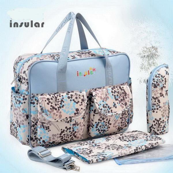 Pretty Elegant Designer Fashion Print Antimicrobial High-Quality Waterproof Diaper Bag 5 Colors