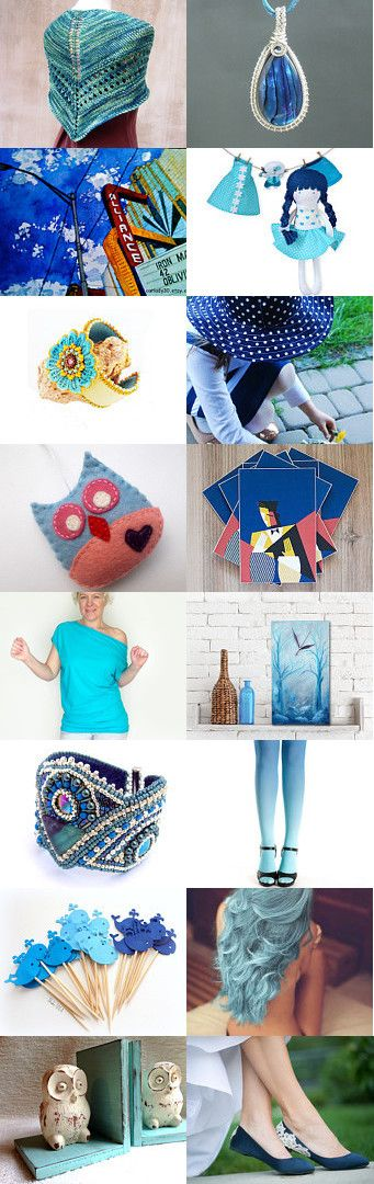Blue things by Mona on Etsy--Pinned with TreasuryPin.com