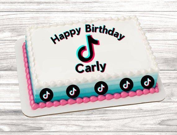 Tiktok Cake Birthday Sheet Cakes Cool Birthday Cakes Music Birthday Cakes