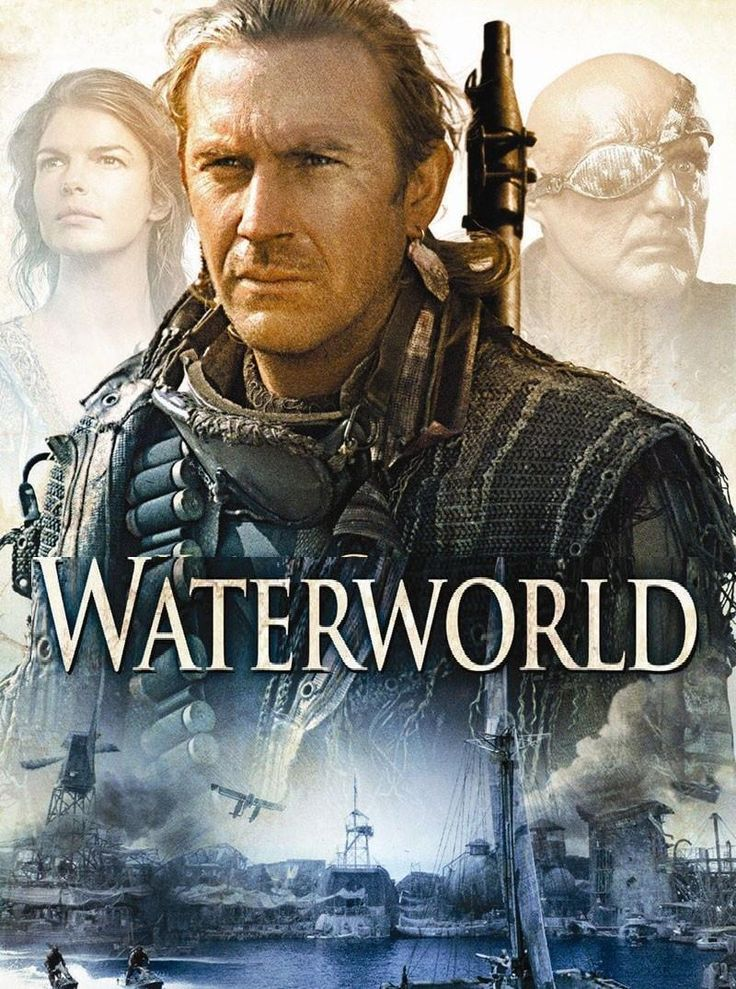 1995 - Waterworld - Kevin Costner, Jeanne Tripplehorn, Tina Majorino, and Dennis Hopper
