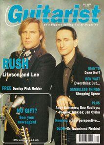 Rush Hour: Geddy Lee & Alex Lifeson - Guitarist Magazine - May 1992 - courtesy of Cygnus-X1.Net
