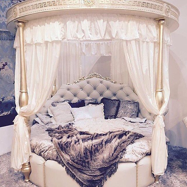 Dreamy round princess bed