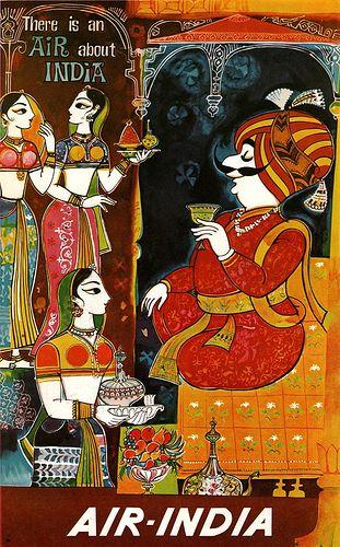 Air India Ad Art Director J.B. Cowasji.  1966 via flickr