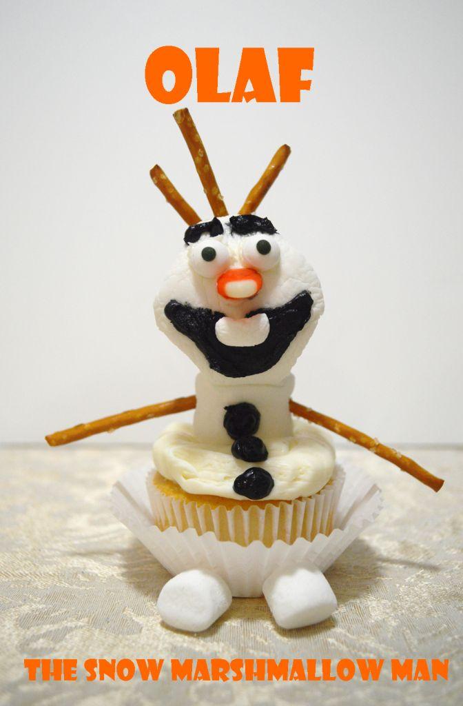 Kids Frozen Themed Activity:  DIY Olaf Marshmallow cupcakes