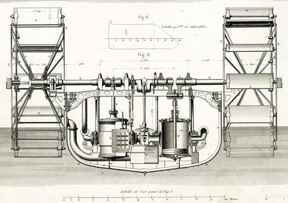 1843 Antique Steamboat Propellers Patent Print Original