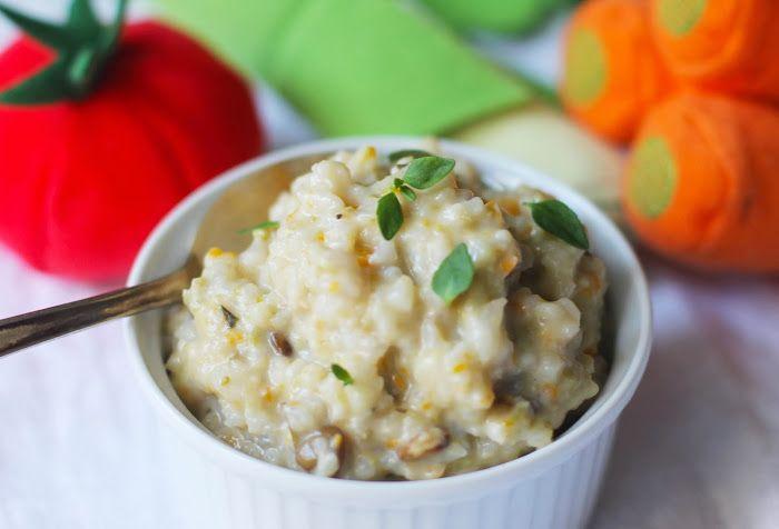 lilla matdériven: Grönsaksrisotto med linser för små
