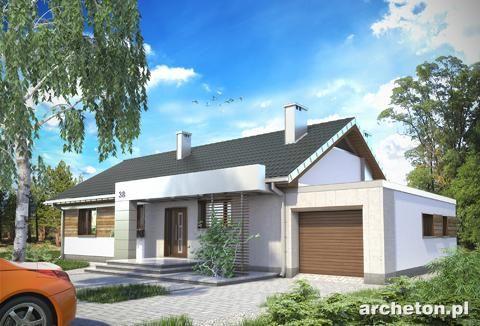 111.7m2, 4 sypialnie parterowy Projekt domu Linus - nowoczesny i funkcjonalny dom parterowy beton komórkowy - Archeton.pl