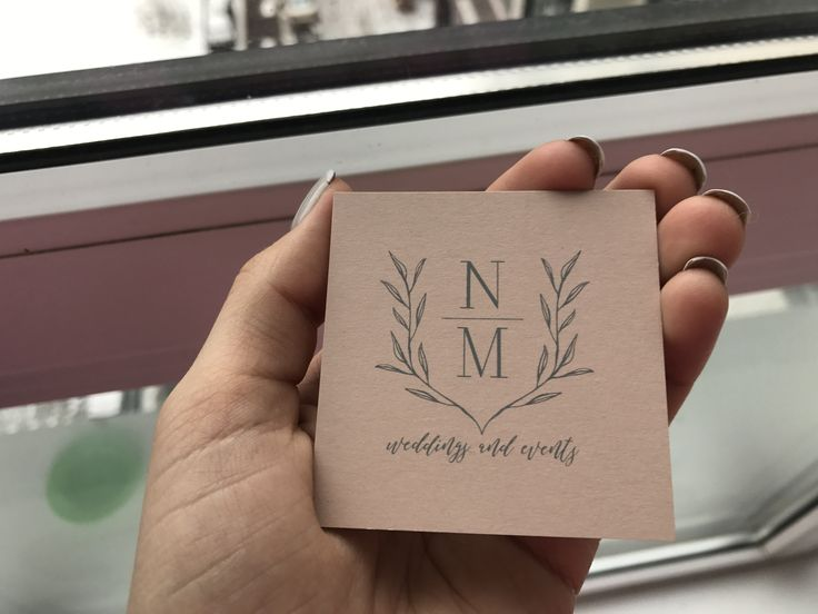 My new business card , wedding planner