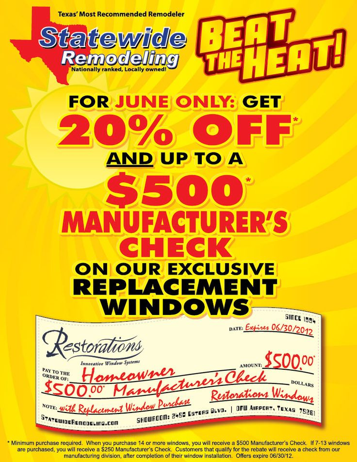Contact us today to take advantage of our June window special!