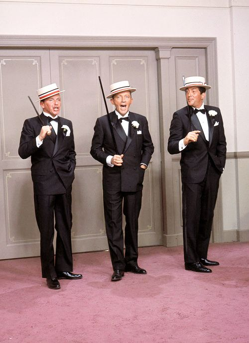 Frank Sinatra, Bing Crosby, and Dean Martin in Robin and the 7 Hoods, 1964