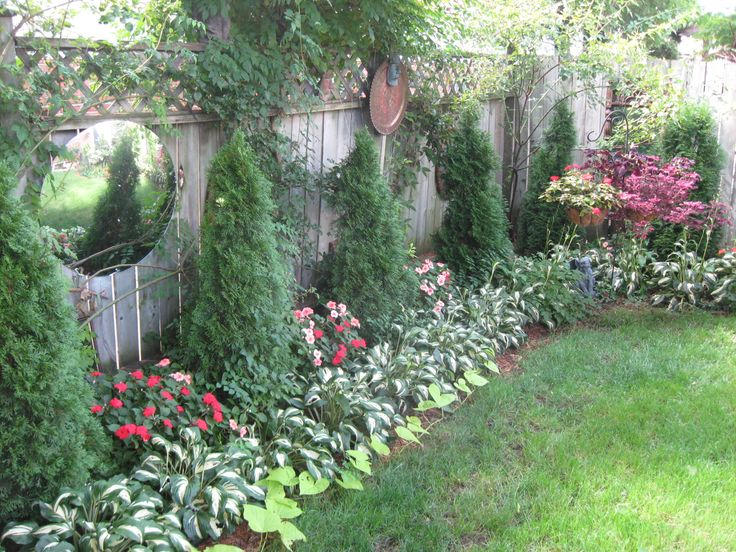 Ideas For Landscaping Around Your House : Ideas about privacy fence landscaping on