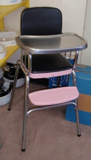 Restored 50 S Vintage Retro Cosco Black Amp Pink Childs High