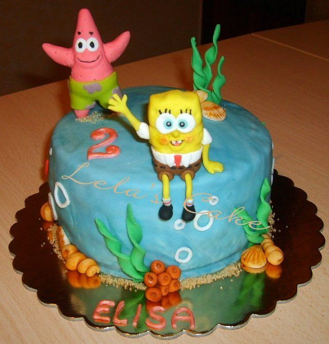 sponge bob cake 2 - by Daniela Morganti (Lela's Cake) @ CakesDecor.com