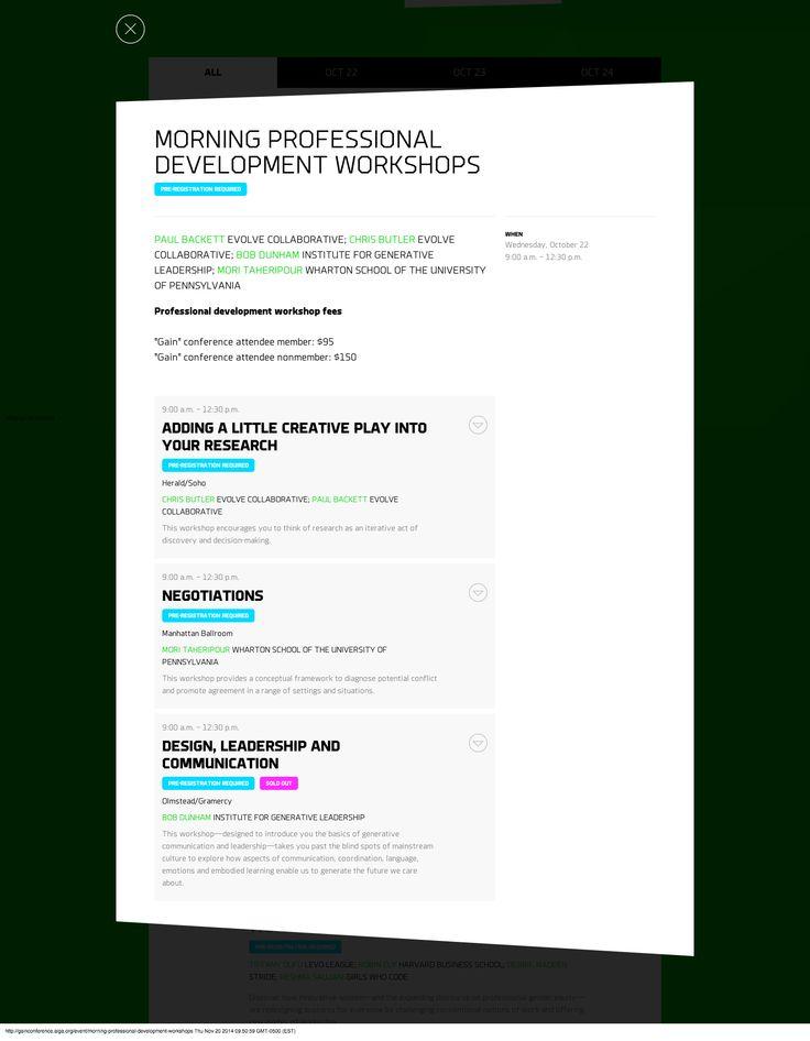 Best Conference Program Images On   Brand Design