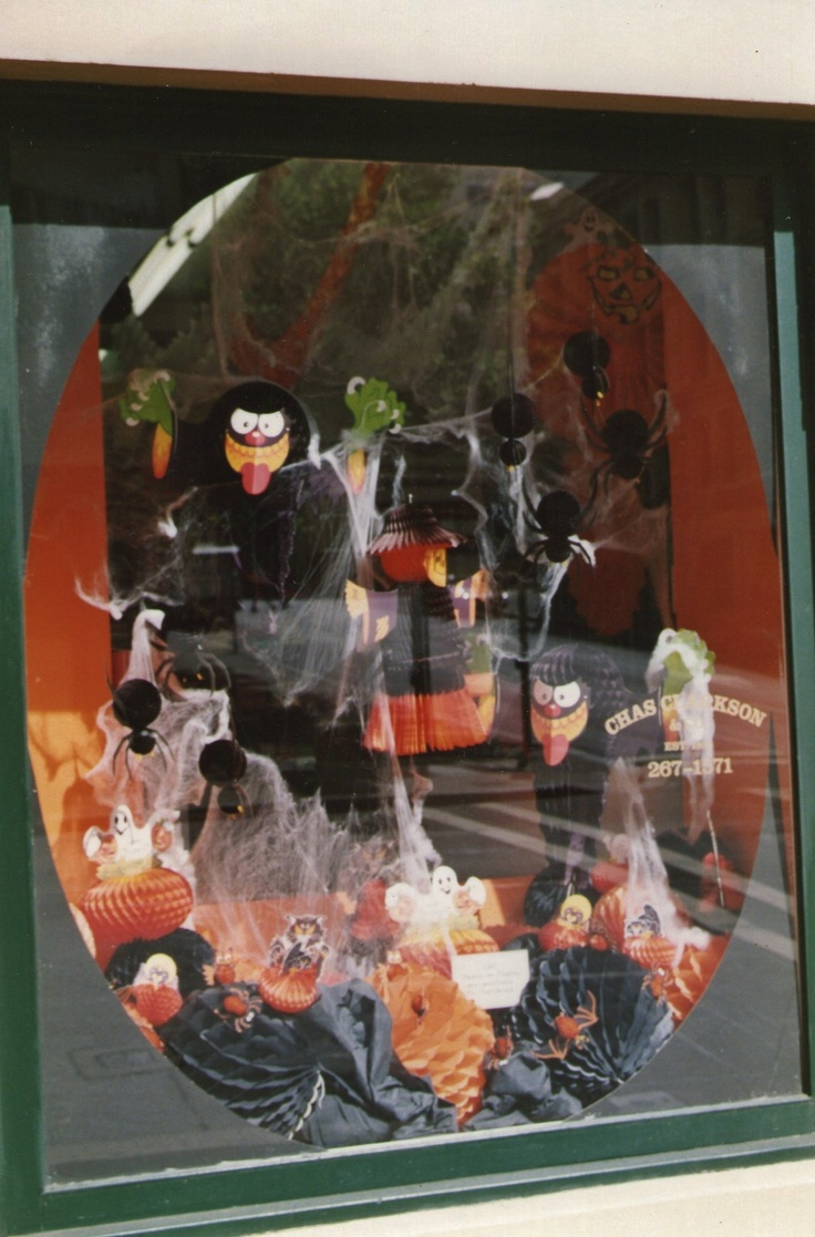 Halloween Window Display