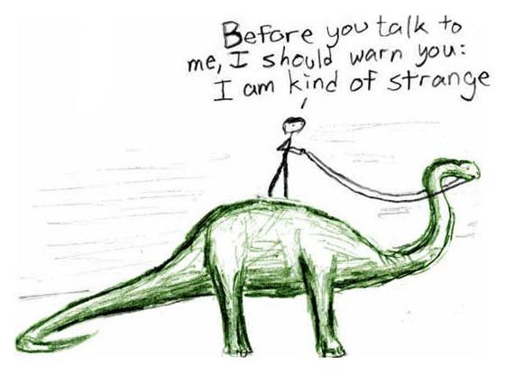 Yup...: Brian Andrea, Strange, Mean People, Business Cards, Friends, Comic, Dinosaurs, Mutual Weird, True Stories